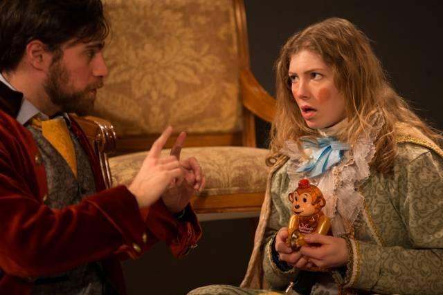 Greg Carere as John Law & Rosie Sowa as King Louis XV - photo by Sergio Pasquariello