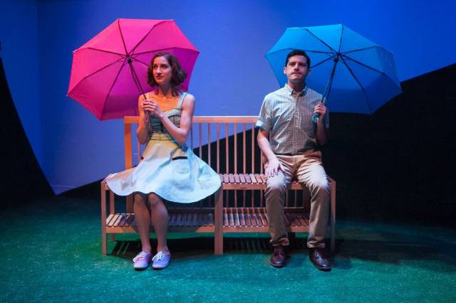 Molly-Ann Nordin and Jeffrey Brian Adams in HAPPILY AFTER EVER at  59E59 Theaters. Photo by Erik Carter.