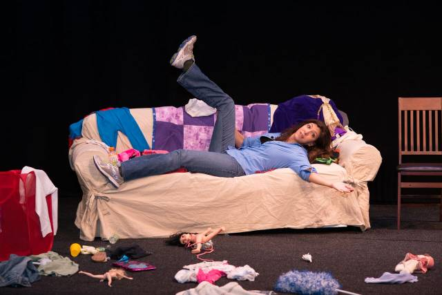 Dena Blizzard in ONE FUNNY MOTHER. Photo credit: Donna Spagna Photography