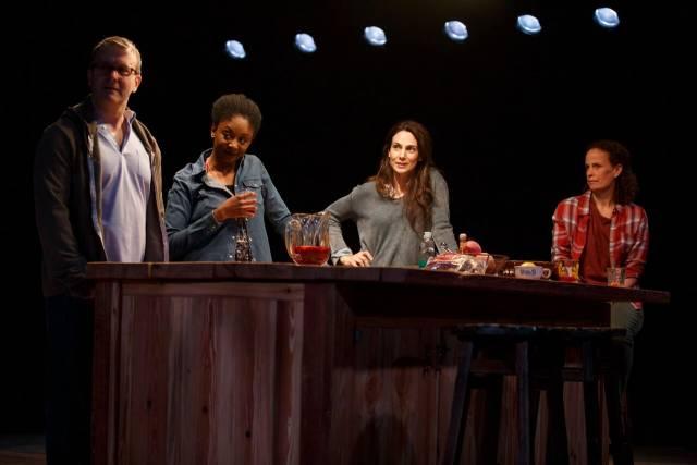 Nat DeWolf, April Matthis, Annie Parisse & Maria Striar in ANTLIA PNEUMATICA. Photo credit: Joan Marcus.