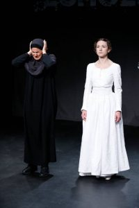 Filipa Braganca and Felicity Houlbrooke in ECHOES, part of Brits Off Broadway at 59E59 Theaters. Photo by Carol Rosegg.