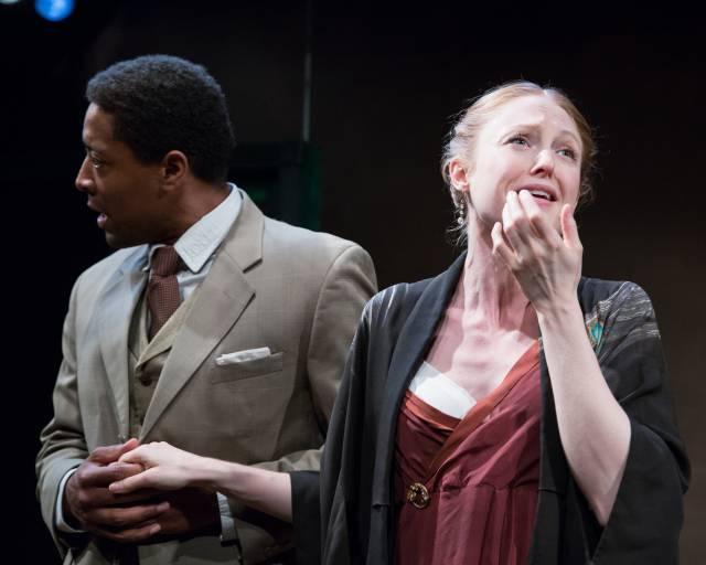 "Terrell Wheeler and Emily Bennett in ""Now I Ask You."" Photo credit: Svetlana Didorenko"