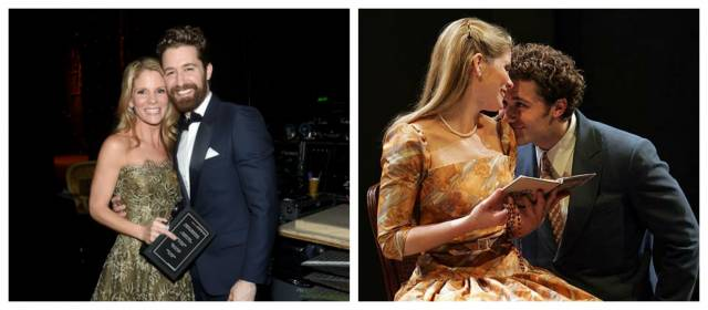 Kelli O'Hara and Matthew Morrison in 2015 and in 2005