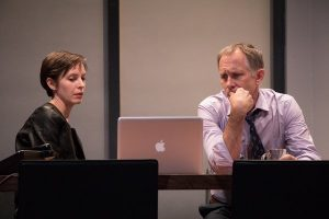 Jocelyn Kuritsky and Bruce McKenzie in STET. Photo credit: Ben Strothmann
