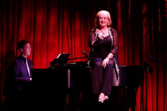 Michael Roulston and Dillie Keane in HELLO DILLIE part of Brits Off Broadway at 59E59 Theaters. Photo by Carol Rosegg.