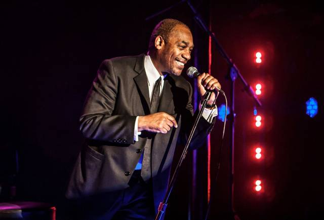JoeMorton in a scenefrom TURN ME LOOSE	by Gretchen Law,	directed	by John Gould	Rubi. Photo credit: Monique Carboni.