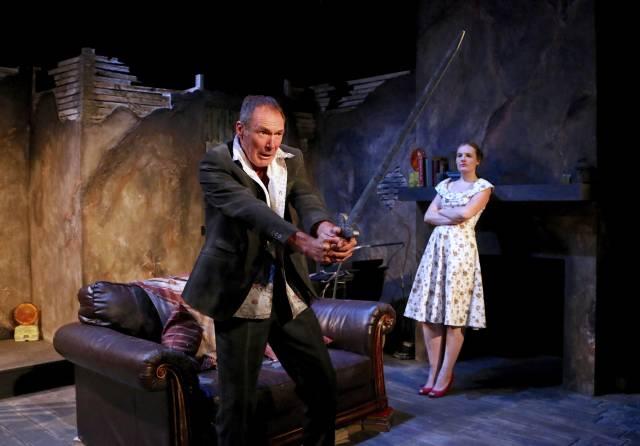 "Colin Lane & Gina Costigan in ""Crackskull Row."" Photo credit: Michael Bonasio."