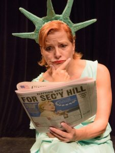 """Frances McGarry in """"Lady Liberty's Worst Day Ever."""" Photo by Steven Pisano."""