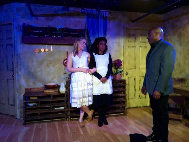 Kalynn Dodge, Kimberly Michelle Thomas, and Jamaal R. Clifton in Miss Julie. Photo credit: Gabby Aris