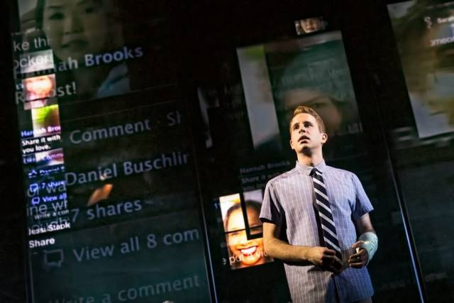 Ben Platt in Dear Evan Hansen. Photo credit: Matthew Murphy