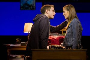 Ben Platt and Laura Dreyfuss in Dear Evan Hansen. Photo credit: Matthew Murphy.