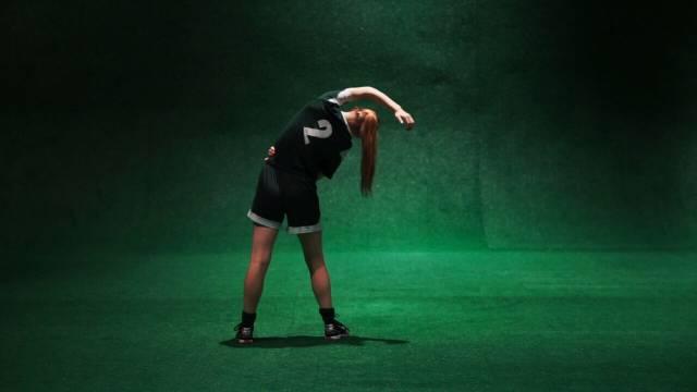 Sarah Mezzanotte in The Wolves. Photographer: Daniel J. Vasquez