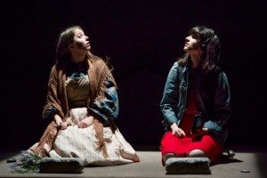 Emily Louise Perkins and Liba Vaynberg in Bekah Brunstetter's The Oregon Trail at the McGinn/Cazale Theatre. (© Jeremy Daniel)