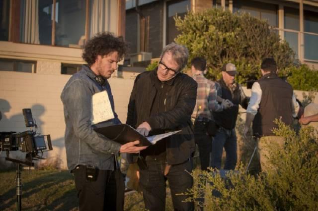 Garth Davis and Luke Davies on the set of 'Lion'